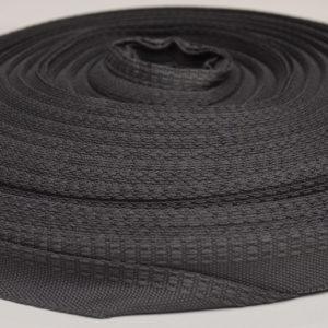Тесьма брючная черная п/э 16мм (1уп-50м)