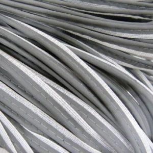 Кант светоотражающий 12мм (100м) под серебро