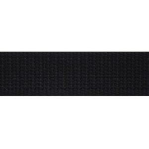 Стропа 25мм черная, 7,51гр облегч. (1рул-50м) Беларусь