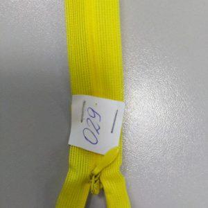 Молния потайная №3 50см ДС-029 желтая