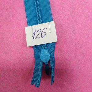 Молния потайная №3 50см ДС-126 бирюза