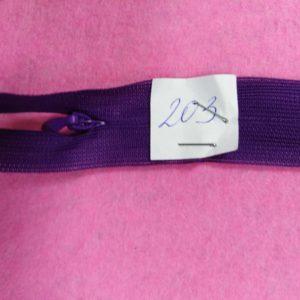 Молния потайная №3 50см ДС-203 темно-фиолетовый