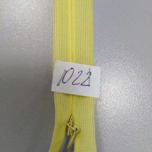 Молния потайная №3 50см ДС-022 св. желтая