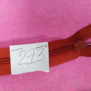 Молния потайная №3 50см ДС-273 кирпичный