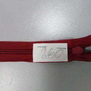 Молния потайная №3 50см ДС-260 бордо