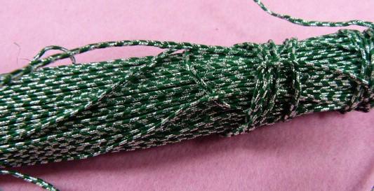 Шнур  «сутаж» арт. 883 № 16 зеленый