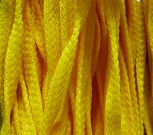 Шнур 34 Ф плоский шир. 7 мм желтый (93), рул-200м