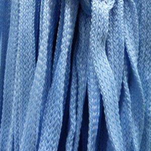 Шнур 34 Ф плоский шир. 7 мм голубой (04), рул-200м