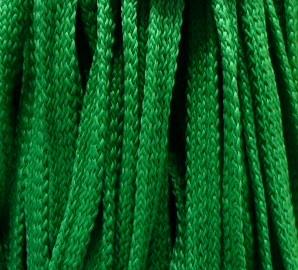 Шнур 34 Ф плоский шир. 7 мм зелёный (57), рул-200м