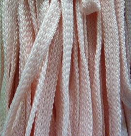 Шнур 34 Ф плоский шир. 7 мм розовый (18), рул-200м