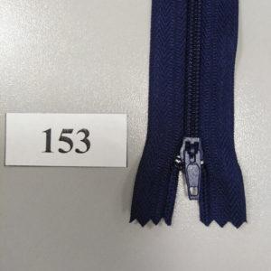 Молния брючная №4 20см ДС-153 темно-синий, полуавтомат