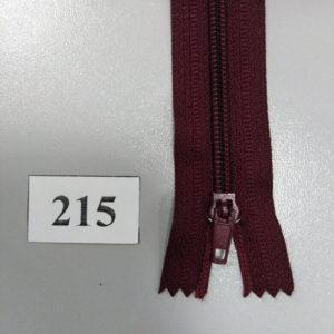 Молния брючная №4 20см ДС-215 бордо, полуавтомат