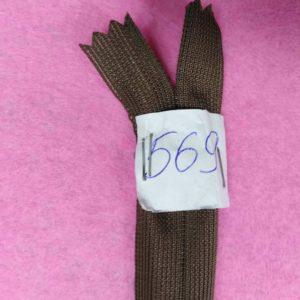 Молния потайная №3 50см Е-569 темно коричневый