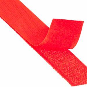 Лента контактная пришив. 25 мм 25м, Комплект, 148-красная