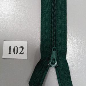 Молния брючная №4 20см ДС-102 темно-зеленый, полуавтомат