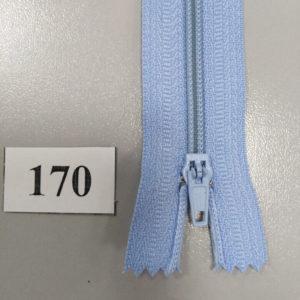 Молния брючная №4 20см ДС-170 голубой, полуавтомат