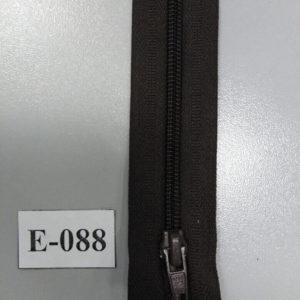 Молния брючная №4 20см E-088 темно-коричневый, автофиксатор (10шт/уп)