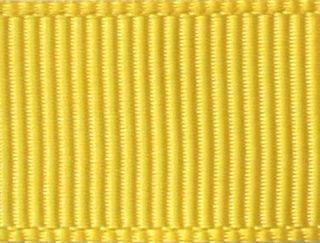 Лента репсовая 25мм №143 лимонный (уп 33м)