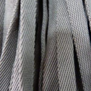 Шнур плоский 15 мм, рул-100м, темно-серый №162 лайт