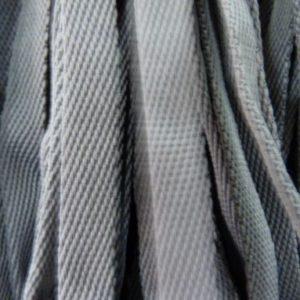 Шнур плоский 15 мм, рул-100м, серый №149 лайт
