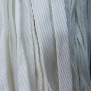 Шнур плоский 15 мм, рул-100м, белый лайт