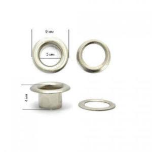 Люверсы №3 (5мм) никель (уп.5000шт.)