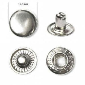 Кнопка рубашечная «Strong» ALFA 12,5мм  (уп. 1440шт.) никель