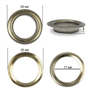 Люверсы №31 (17мм) черный никель (уп. 500шт)