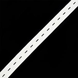 Резинка белая 0120 вязанная перфорированная (1рул-25м)