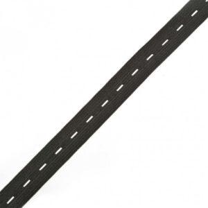 Резинка черная 0120 вязанная перфорированная (1рул-25м)