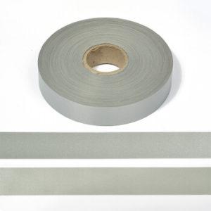 Светоотражающая лента 25 мм 100м/уп (50%ПЭ/50%хлопок) А101 серый