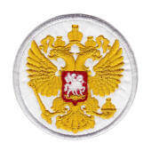 Аппликация «герб Россия» (белый) — 8005