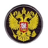 """Аппликация """"герб Россия"""" (черный) – 8005"""