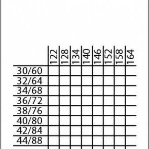 Лента размерная универсальная широкая (сетка размерная), 320 шт/рул