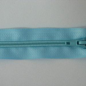 Молния спираль №5 55см голубой