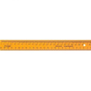 Линейка закройщика 25 см флуоресцентная прозрачная арт.ЛН62 (уп. 20 шт.)