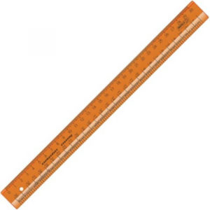 Линейка закройщика 30 см флуоресцентная оранж. арт. ЛН71 (710)   (уп. 20 шт.)