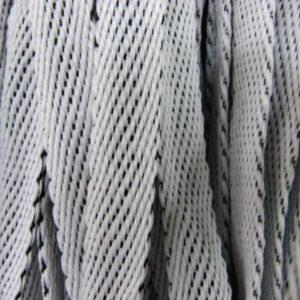 Шнур плоский 15 мм, рул-100м, бело-серый меланж (Беларусь)