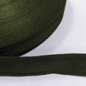 Лента репсовая 25мм (50м/рул) оливковый №158