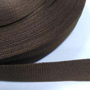 Лента репсовая 25мм (50м/рул) коричневый №1