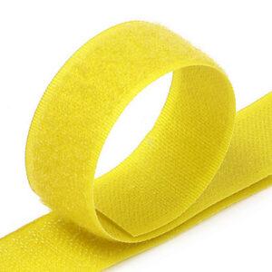 Лента контактная пришив. 25 мм 25м, Комплект, 1385-желтый