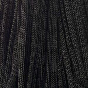 Шнур 4 мм круглый с наполнителем черный, рул — 100 м (Беларусь)