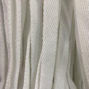 Шнур плоский 10 мм, рул-100м, белый