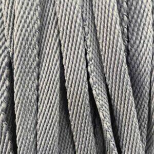 Шнур плоский 10 мм, рул-100м, серый №149