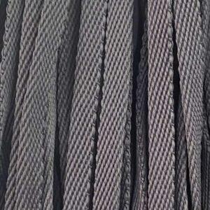 Шнур плоский 10 мм, рул-100м, темно-серый №162