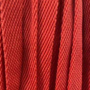 Шнур плоский 10 мм, рул-100м, красный №115
