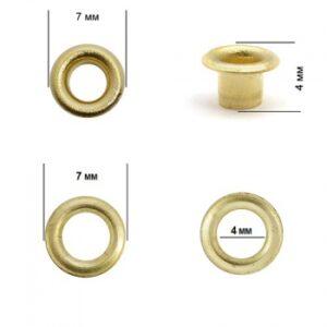 Люверсы №17 (3мм) золото (уп,5000шт)