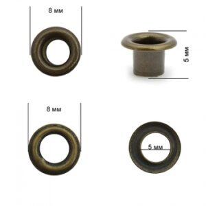 Люверсы №2 (4мм) антик (уп-5000шт)