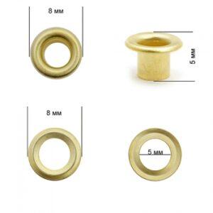 Люверсы №2 (4мм) золото (уп-5000шт)