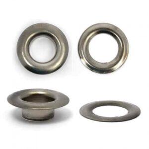Люверсы №24 (9мм) черный никель (уп.1000шт)